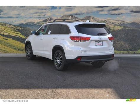 2017 Blizzard White Pearl Toyota Highlander Se Awd