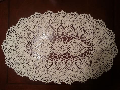crochet doilies crochet doily oval pineapple doily part 1