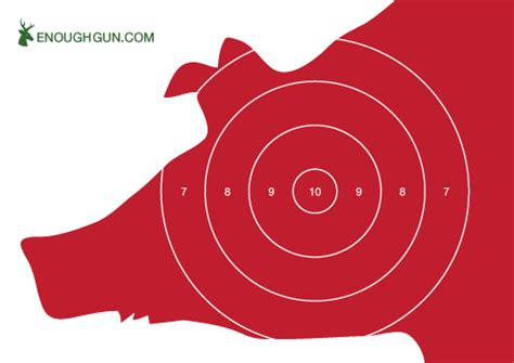 printable pig targets shooting targets free to download and ready to print