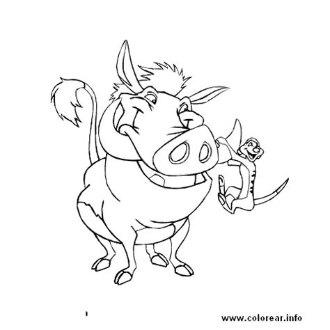 timon pumba timon and pumbaa printable coloring pages for