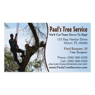 Tree Service Business Card Template by Tree Surgeon Business Cards Templates Zazzle