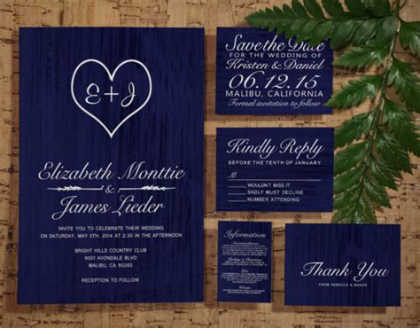 20 Country Wedding Invitation Templates Free Sle Exle Format Download Free Premium Navy Blue Wedding Invitation Templates