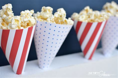 How To Make Paper Cones For Popcorn - printable 4th of july popcorn cones
