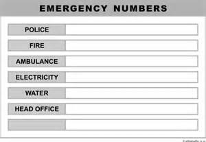 emergency list template list template admin august emergency list template admin doc 462600 emergency phone number list template