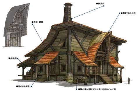 house design building games hawthorne hut characters art final fantasy xiv a realm reborn