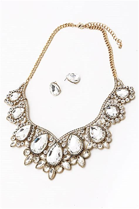 allyoops rhinestone statement necklace from mississippi