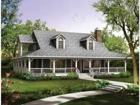 Country Home Plans Wrap Around Porch by Exterior Inspiration