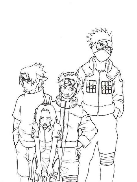 naruto coloring pages pdf sasuke naruto sakura and kakashi coloring page sasuke