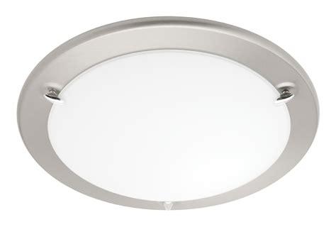 2 light ceiling flush brushed chrome lighting