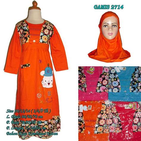 Baju Kaos Anak Muslim Lengan Panjang Afra Size Xs S Af173 baju gamis anak bunga rompi 2714 size 12 hanya rp 48 000 00