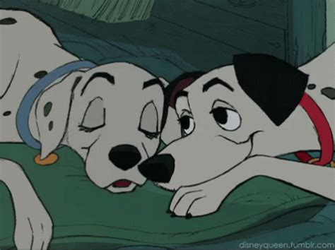 reddit puppy 101 dalmatian snuggle gif dalmatian snuggle disney gifs say more with tenor