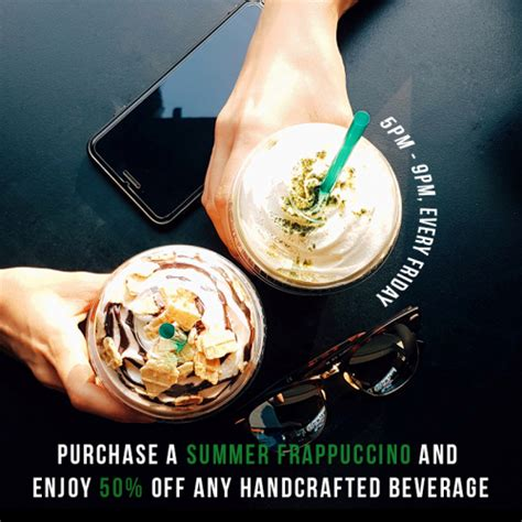 Handcrafted Beverage - starbucks handcrafted beverage at 50 discount freebies