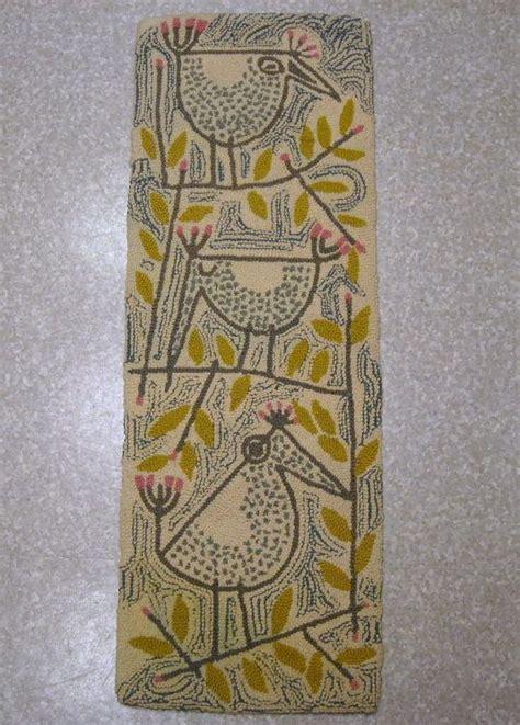 1950s rug styles 1950s artist signed modern wool hook tapestry rug