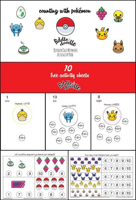 printable pokemon activity sheets free activity sheets for dabber dot markers counting
