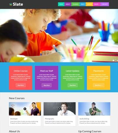 Educational Website Themes And Templates Free Download Webthemez School Photo Templates Free