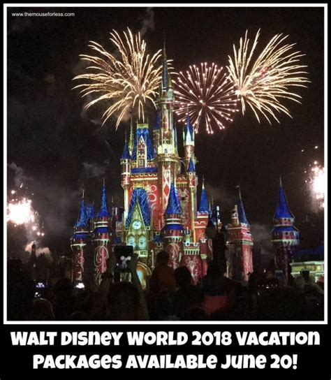 book your 2018 vacation package 2018 walt disney world vacation packages available june 20