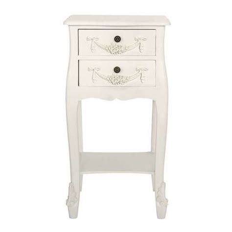 White 2 Drawer Bedside Table by Toulouse White 2 Drawer Bedside Table Dunelm