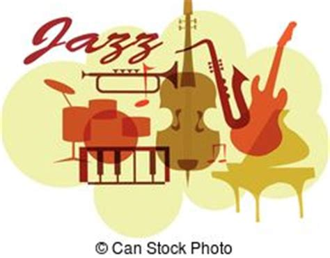 what instruments can be found in the jazz rhythm section colorful jazz instruments set isolated on white