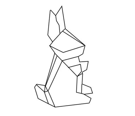 drawing origami lapin on
