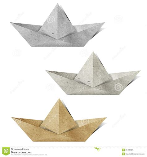 Origami Paper Boat - origami paper boat recycled paper craft stock illustration