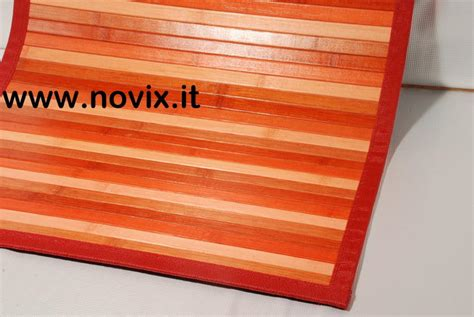 tappeto bamboo tappeto bamb 217 rosso 60x280 cm