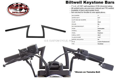 biltwell keystone handlebars ss custom cycle