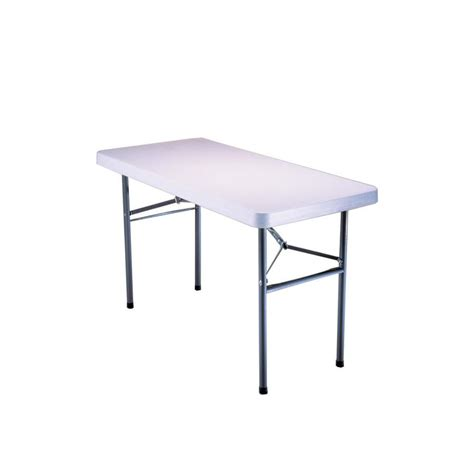 4 folding table lowes shop lifetime products 48 in x 24 in rectangle steel white