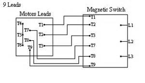 typical connection diagrams three phase motors part winding start wye only single voltage
