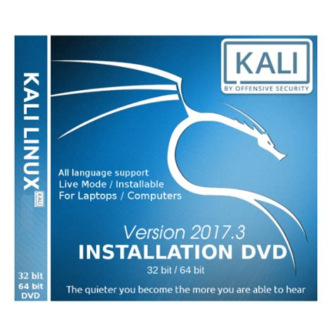 Kali Linux 2017 1 64bit Dvd Bootable buy kali linux 2017 3 bootable dvd 32 64 installation disk lowest price in india linuxpurchase