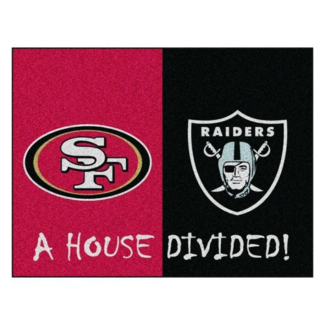 Chicago Kitchen Faucets fanmats nfl 49ers raiders red house divided 2 ft 10 in