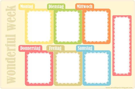 planner printable freebies meinlilapark free printable weekly planner