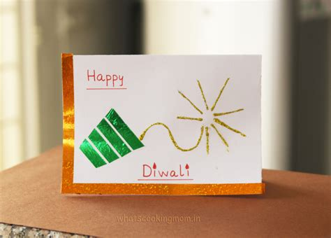 Handmade Diwali Cards - buttons on cards images