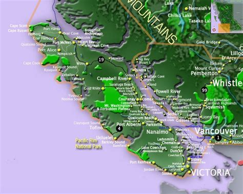 map of vancouver island map of vancouver island and gulf islands bc maps go bc