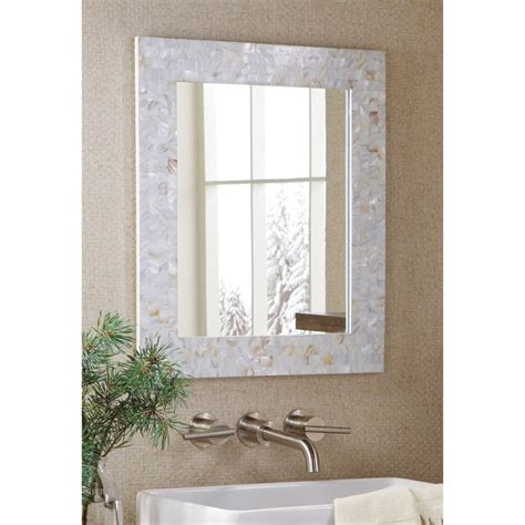 pearl home decor amazon com mother of pearl mosaic tiles white wall mirror
