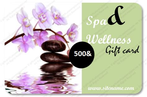Spa And Wellness Gift Cards - printable spa gift certificate template spa templates