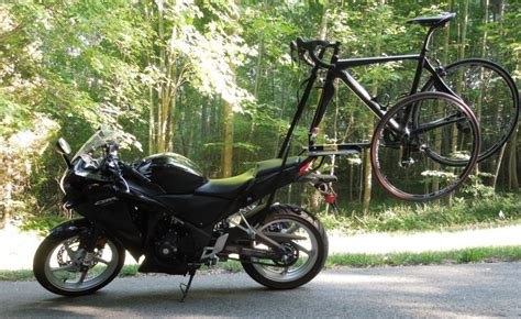 Mountain Bike Rack For Motorcycle by 2x2 Bicycle Rack Turns Your Motorcycle Into A Four Wheeler