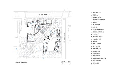 university commons chicago floor plans university of chicago north residential commons by studio