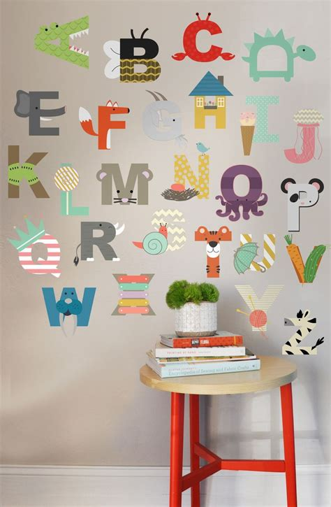 Alphabet Wall Decals For Nursery Best 25 Abc Wall Ideas Only On Abc Nursery Childrens And Mirrors And Playroom
