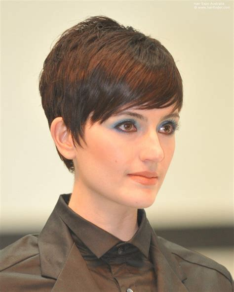 quick weave pixy cut with side sweep long pixie haircut with side bangs simple fashion style