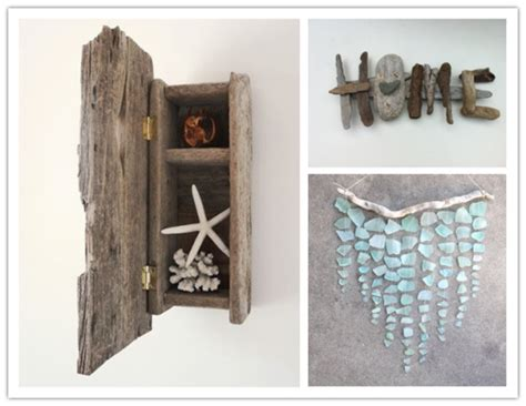 Rustic Cooking inspirational crafts with beach driftwood and sea glasses