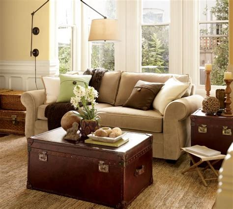 modernizing and eclecticizing a pottery barn living room