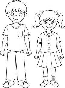 Brother And Sister Coloring Page sketch template