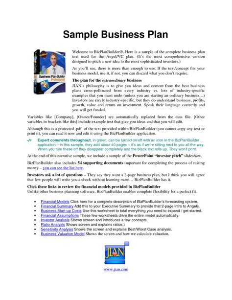 business plan format step by step business plan sle pdf template business