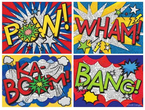 Paintings 7 Words by Artimus Prime 5th Bam Onomatopoeia And Roy Lichtenstein