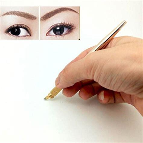 tattoo makeup eyebrow machine pinkiou 3d eyebrow hair stroked manual pen permanent