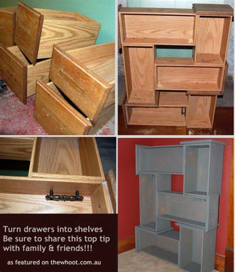 Turn Drawers Into Shelves by How To Make A Dresser Drawer Into A Shelf Woodworking