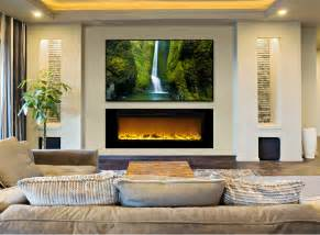 Electric Fireplace Basement by Best 25 Recessed Electric Fireplace Ideas On