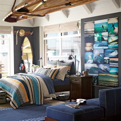 surfer bedroom surf guy collage wall mural pbteen