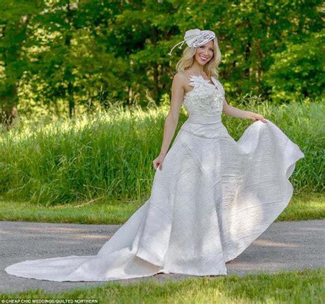 toilet paper wedding dress contest finalist chosen daily mail