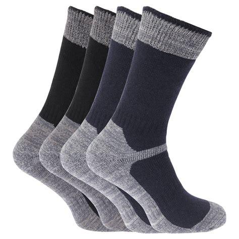 mens boot socks mens heavy weight reinforced toe work boot socks pack of 4